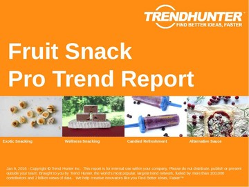 Fruit Snack Trend Report and Fruit Snack Market Research