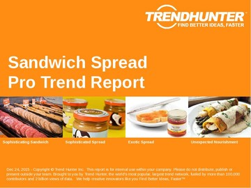 Sandwich Spread Trend Report and Sandwich Spread Market Research