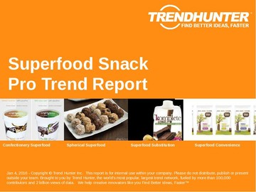Superfood Snack Trend Report and Superfood Snack Market Research