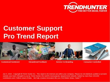Customer Support Trend Report and Customer Support Market Research