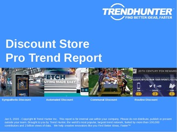 Discount Store Trend Report and Discount Store Market Research