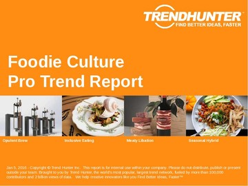 Foodie Culture Trend Report and Foodie Culture Market Research