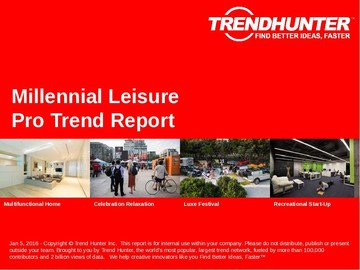 Millennial Leisure Trend Report and Millennial Leisure Market Research