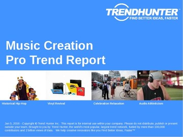 Music Creation Trend Report and Music Creation Market Research