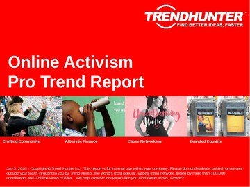 Online Activism Trend Report and Online Activism Market Research