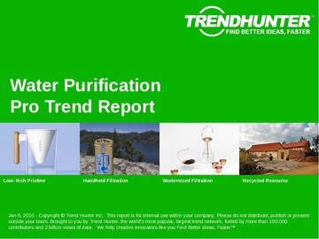 Water Purification Trend Report and Water Purification Market Research