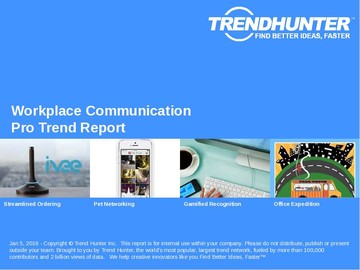 Workplace Communication Trend Report and Workplace Communication Market Research