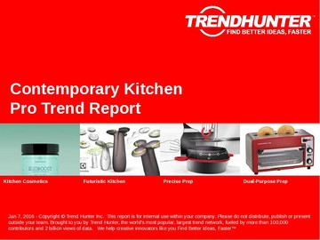 Contemporary Kitchen Trend Report and Contemporary Kitchen Market Research
