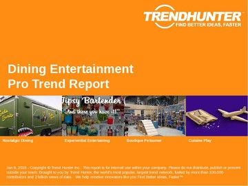 Dining Entertainment Trend Report and Dining Entertainment Market Research