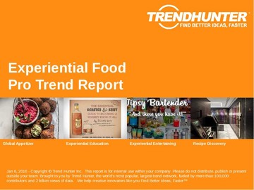 Experiential Food Trend Report and Experiential Food Market Research