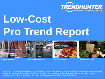 Low-Cost Trend Report and Low-Cost Market Research
