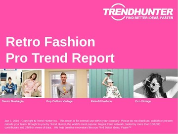 Retro Fashion Trend Report and Retro Fashion Market Research