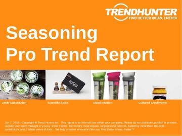 Seasoning Trend Report and Seasoning Market Research