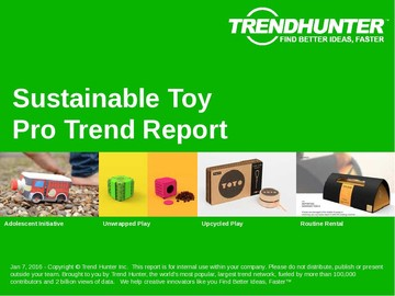 Sustainable Toy Trend Report and Sustainable Toy Market Research