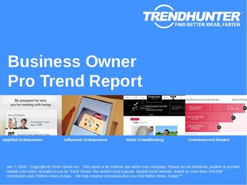 Business Owner Trend Report and Business Owner Market Research