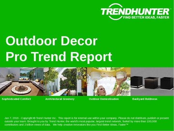 Outdoor Decor Trend Report and Outdoor Decor Market Research