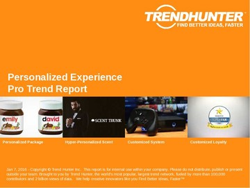 Personalized Experience Trend Report and Personalized Experience Market Research