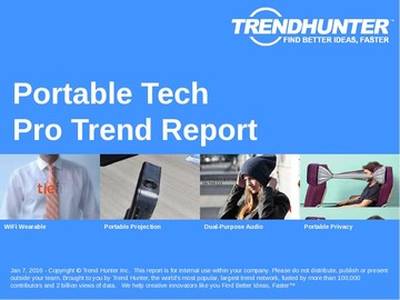 Portable Tech Trend Report and Portable Tech Market Research