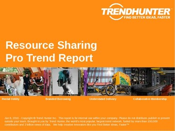 Resource Sharing Trend Report and Resource Sharing Market Research