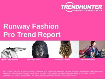 Runway Fashion Trend Report and Runway Fashion Market Research