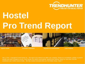 Hostel Trend Report and Hostel Market Research