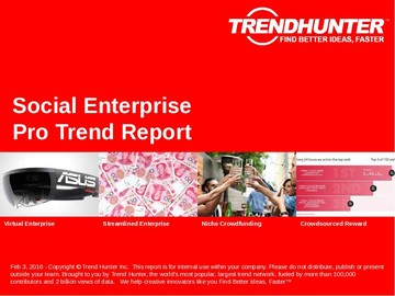 Social Enterprise Trend Report and Social Enterprise Market Research