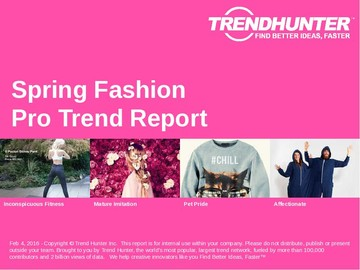 Spring Fashion Trend Report and Spring Fashion Market Research