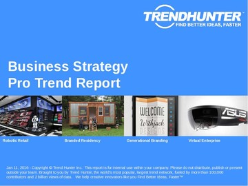 Business Strategy Trend Report and Business Strategy Market Research