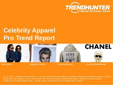 Celebrity Apparel Trend Report and Celebrity Apparel Market Research