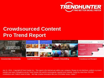 Crowdsourced Content Trend Report and Crowdsourced Content Market Research