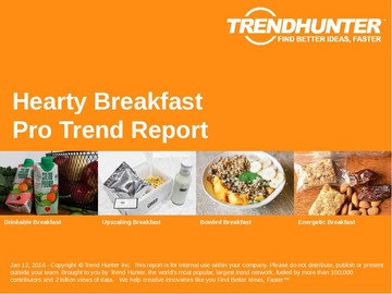 Hearty Breakfast Trend Report and Hearty Breakfast Market Research