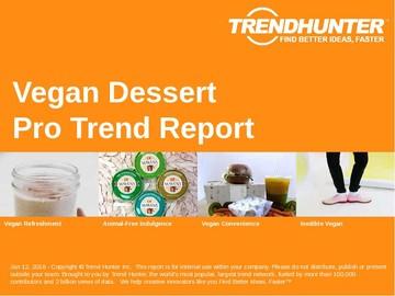 Vegan Dessert Trend Report and Vegan Dessert Market Research