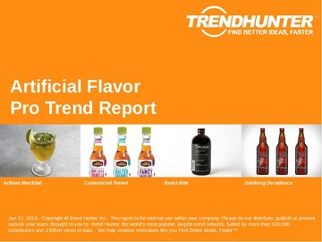 Artificial Flavor Trend Report and Artificial Flavor Market Research