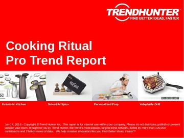 Cooking Ritual Trend Report and Cooking Ritual Market Research