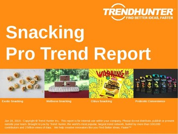 Snacking Trend Report and Snacking Market Research