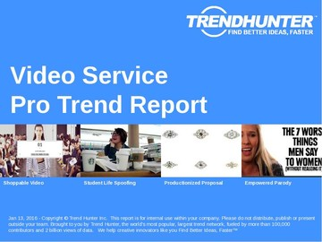 Video Service Trend Report and Video Service Market Research