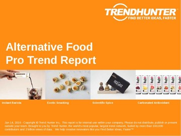 Alternative Food Trend Report and Alternative Food Market Research