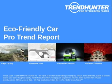 Eco-Friendly Car Trend Report and Eco-Friendly Car Market Research
