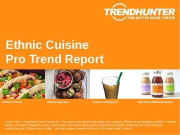 Ethnic Cuisine Trend Report and Ethnic Cuisine Market Research