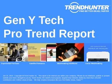 Gen Y Tech Trend Report and Gen Y Tech Market Research