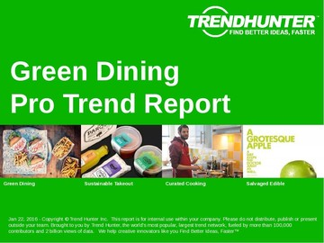 Green Dining Trend Report and Green Dining Market Research