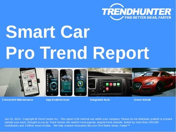 Smart Car Trend Report and Smart Car Market Research