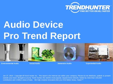 Audio Device Trend Report and Audio Device Market Research
