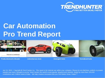 Car Automation Trend Report and Car Automation Market Research