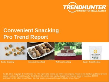 Convenient Snacking Trend Report and Convenient Snacking Market Research