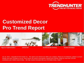 Customized Decor Trend Report and Customized Decor Market Research
