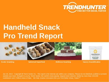 Handheld Snack Trend Report and Handheld Snack Market Research