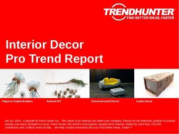 Interior Decor Trend Report and Interior Decor Market Research