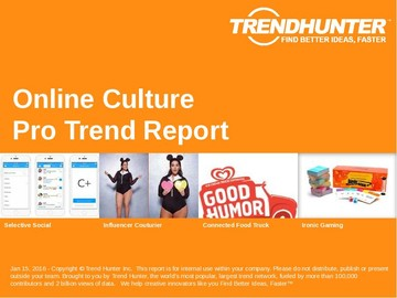 Online Culture Trend Report and Online Culture Market Research