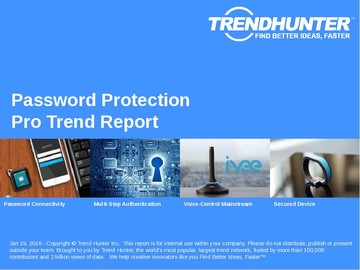 Password Protection Trend Report and Password Protection Market Research